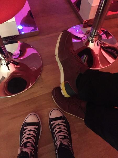 Die erstklassige Schuhwahl