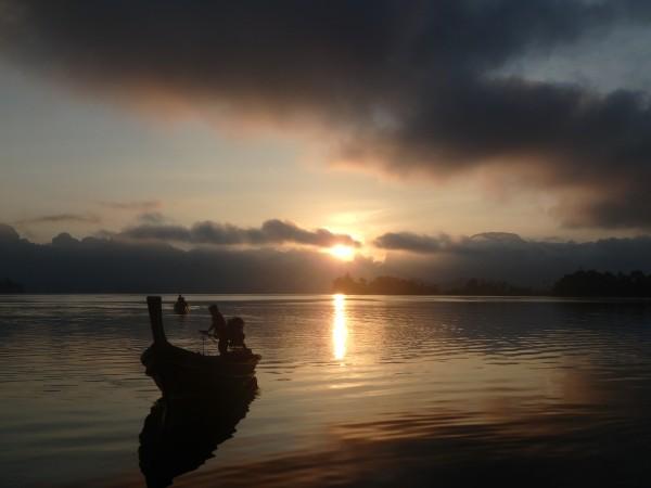 Wunderschöner Sonnenaufgang - hat sich gelohnt um halb sieben Uhr aufzustehen :-)