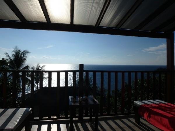Aussicht von unserem Hotelbalkon bzw. vom Bett aus :-)