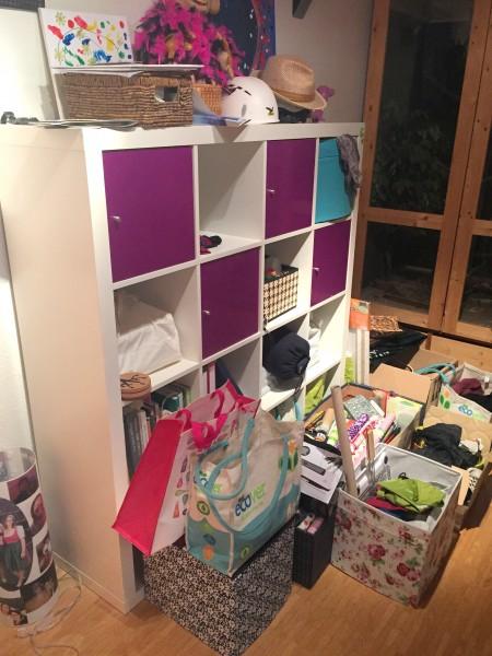 Chaos in der neuen Wohnung