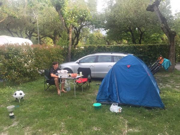 Unser Campingplatz in Sirmione