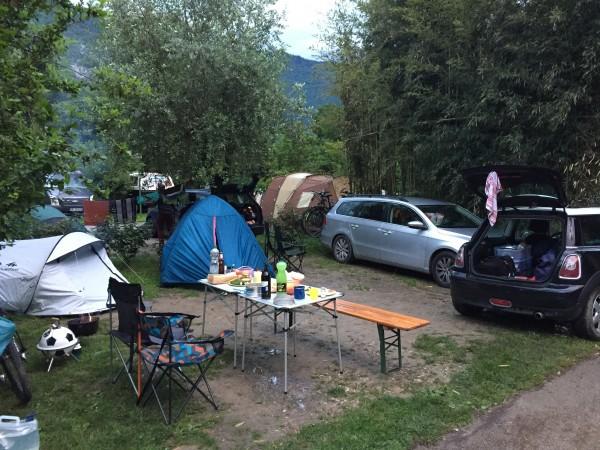 Unser Campingplatz in Arco