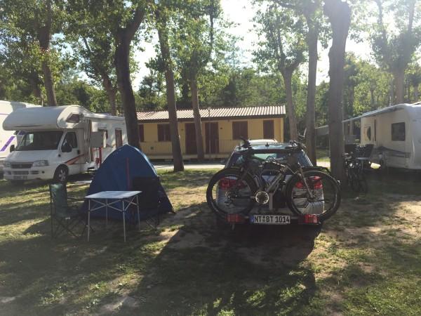 Unser Campingplatz kurz vor Pisa