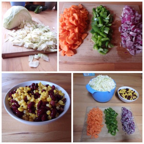 Gemüse klein schnippeln